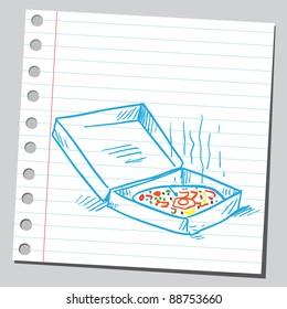 Pizza box sketch