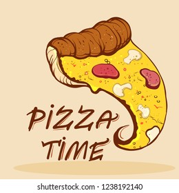 pizza day, pizza slices, street food vector illustration