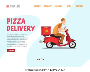Pizza Delivery Landing Page vector