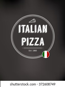 Pizza fast food background