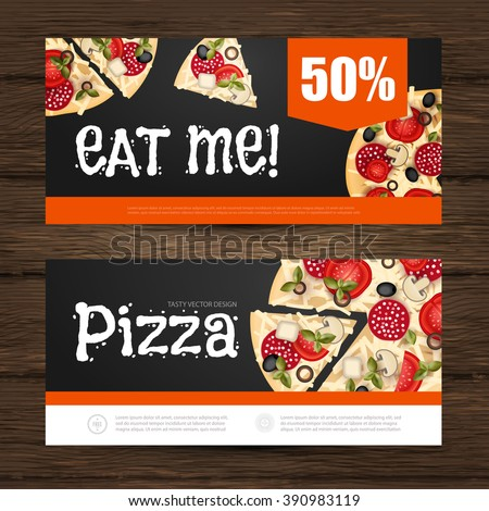 pizza flyer gift voucher template vector stock vector royalty free