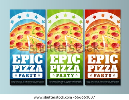 pizza flyers template eps 10 stock vector royalty free 666663037