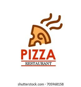 Pizza Hot Logo. Template Design Vector Design Illustration Eps.10. Pizza restaurant vector logo