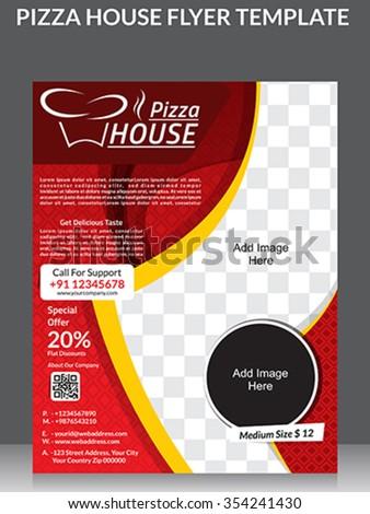 Pizza House Flyer Magazine Ad Design Image Vectorielle De Stock