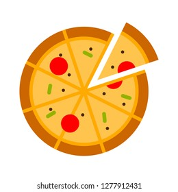 pizza icon - pizza isolate, pizza slice illustration - Vector pizza