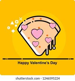 pizza icon, love, valentines day