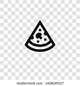 pizza icon from miscellaneous collection for mobile concept and web apps icon. Transparent outline, thin line pizza icon for website design and mobile, app development