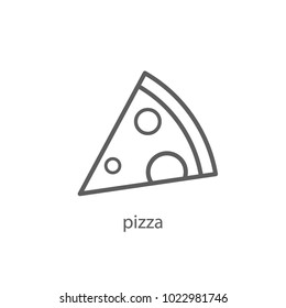 pizza icon outline design