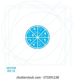 Pizza  icon. Vector design.