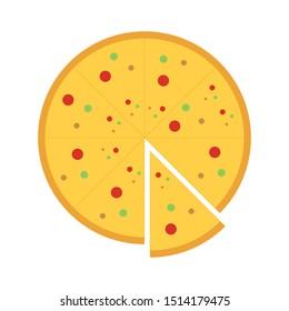 Pizza Icon Vector. Pizza Vector Logo. Pizza Favicon Vector.