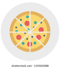 Pizza Illustration Color Vector Isolated Icon easy editable and special use for Leisure,Travel and Tour