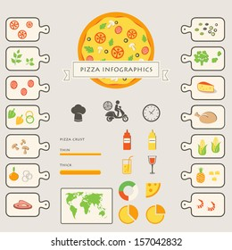 Pizza Infographics Elements and Icons