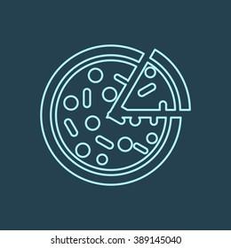 Pizza Line Icon. Eps-10.