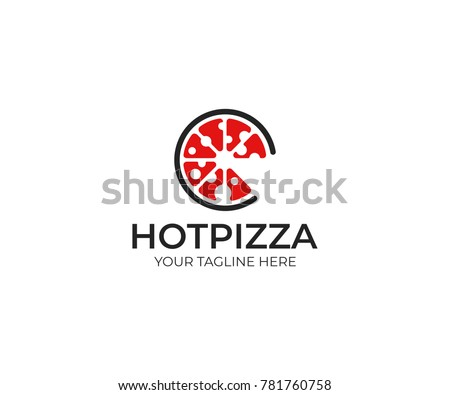 Pizza logo template fast food vector stock vector royalty free pizza logo template fast food vector design bakery products illustration maxwellsz