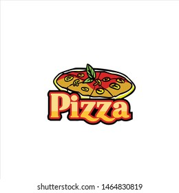 pizza logo vector illustration template download quality