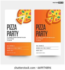 pizza party invitation template design
