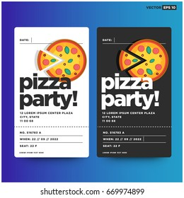 Pizza Party Invitation Template Design