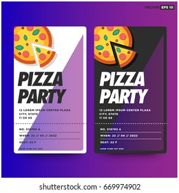 pizza party invitation template design stock vector royalty free