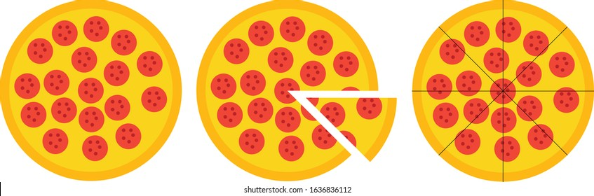 Pizza Split Into 8 Slices Clipart - Full Size Clipart (#3102538) -  PinClipart