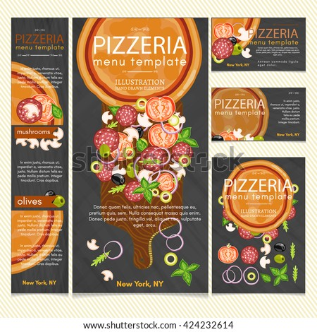 pizza restaurant menu pizza banner make stock vector royalty free