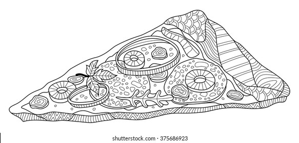 - Food Coloring Pages Images, Stock Photos & Vectors Shutterstock