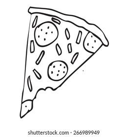 Pizza slice doodle