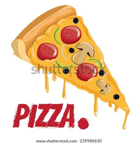 pizza slice vector 1 stock vector royalty free 239980630 rh shutterstock com pizza slice vector black and white pizza slice vector image free