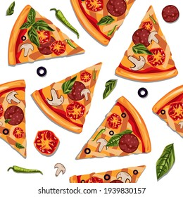 Pizza slices. Endless background. Food
