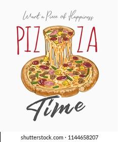 pizza slogan illustration