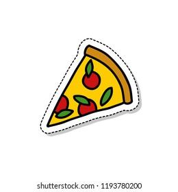 pizza sticker doodle icon