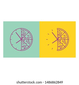 It's Pizza Time! Who hate pizza? Of course NOBODY! Enjoy your pizza while having a good time. This Pizza Time Vector is suit for you.