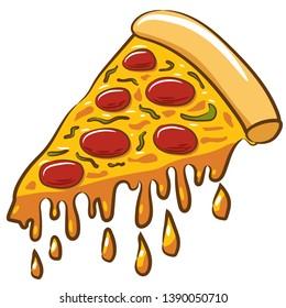 pizza vector cartoon clipart design