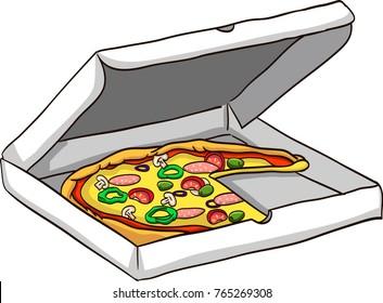 Pizza vector drawing illustration