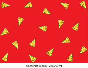 pizza vector pattern background