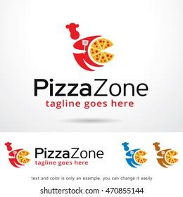Pizza Zone Logo Template Design Vector