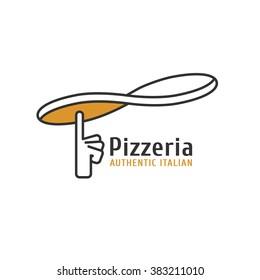 Pizzeria, pizza vector logo, icon, symbol, emblem. Delivery concept image