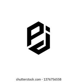 PJ JP Letter Initial Logo Design Template - Vector
