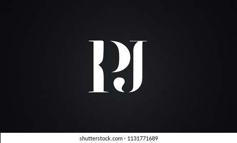 PJ Letter Logo Design Template Vector