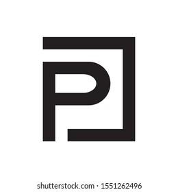 PJ letter logo design vector