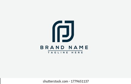 PJ Logo Design Template Vector Graphic Branding Element.