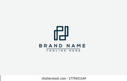 PJ Logo Design Template Vector Graphic Branding Element.