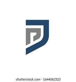 pj logo design vector sign template