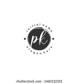 PK Initial beauty monogram logo vector