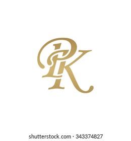 PK initial monogram logo