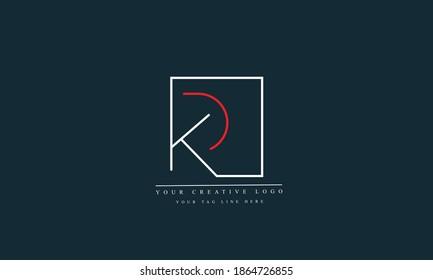 PK, KP, RK abstract vector logo monogram template