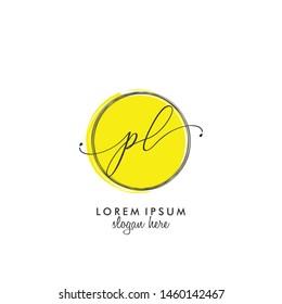 PL Initial beauty monogram logo vector