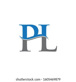 PL Letter Type Logo Design Vector Template. Abstract Letter PL Logo Design
