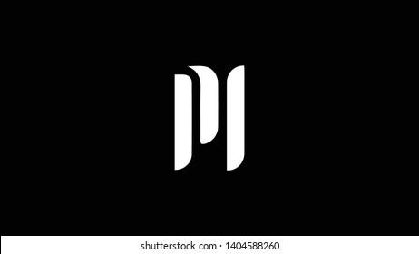 PL logo design template vector minimal design