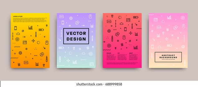 Placard templates | Trendy 80s memphis geometric design