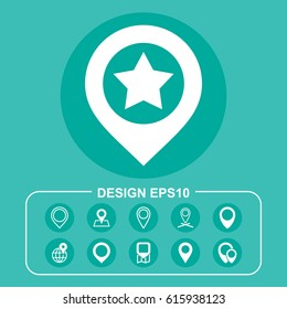 Place Icon Vector flat design style